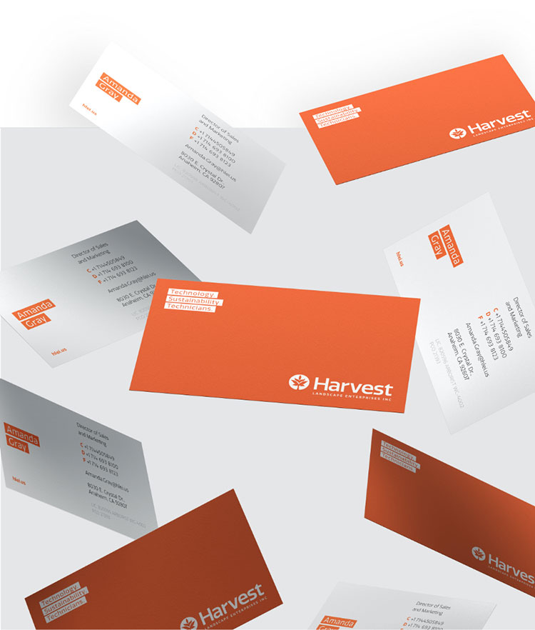 Harvest business cards