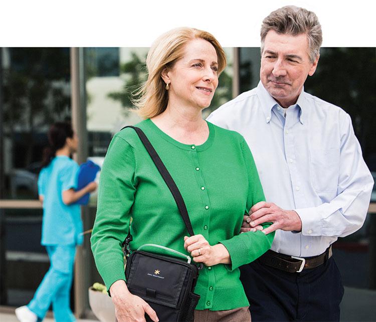 Couple leaving clinic