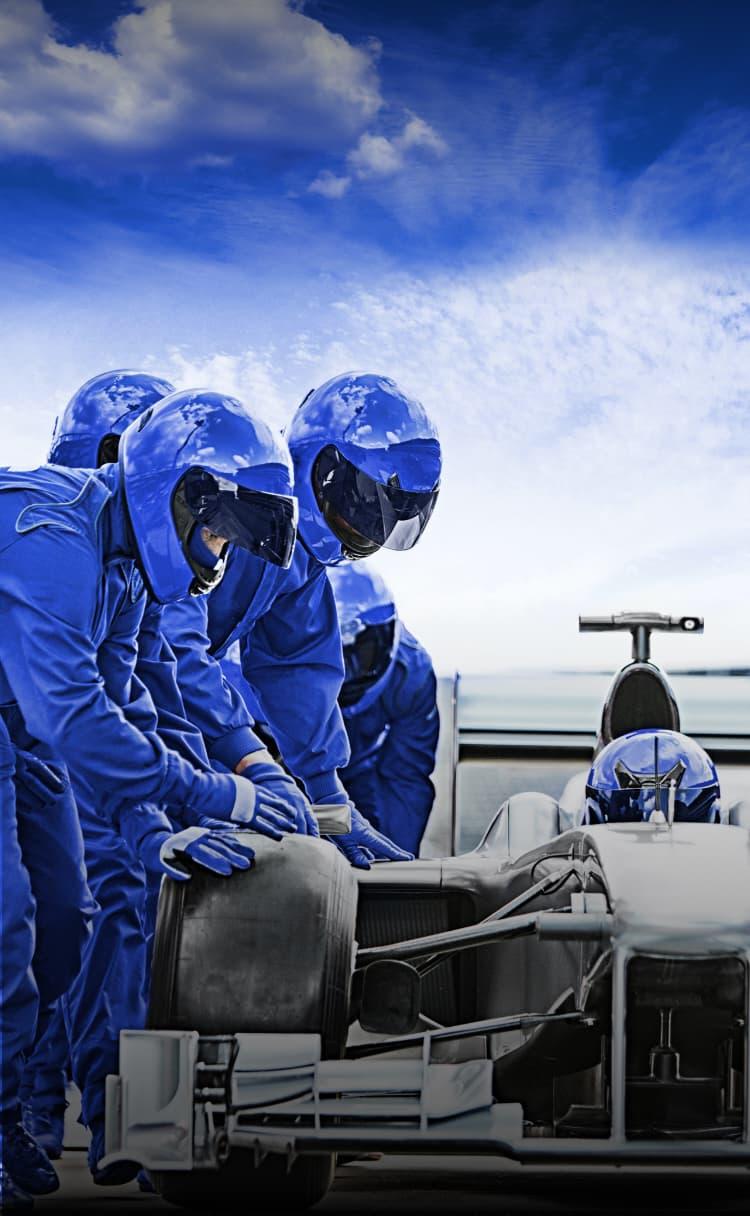 Race car pit crew