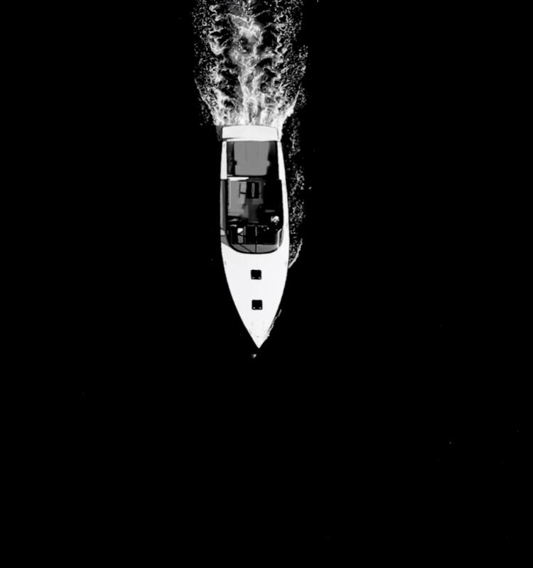 VanDutch luxury yacht from above